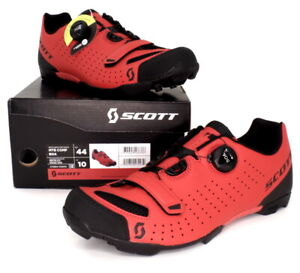 Scott MTB Comp Boa Mountain Bike Shoes Red/Black Men's Size 10 US / 44 EU