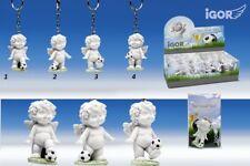 Poly-Schlüsselanhänger Igor mit Fußball weiss-color 82343 Figur Spieler Deko