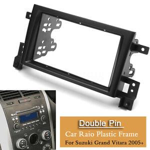 Double-din Car Stereo Radio Fascia Panel Dash Frame For Suzuki Grand Vitara 2005