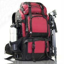Large Waterproof Camcorder Camera Backpack DSLR 17'' Laptop For Nikon Sony Bags