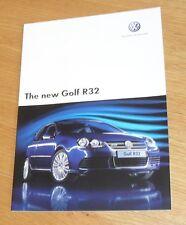 Volkswagen VW Golf R32 Mk5 Brochure 2005-2007 - 3.2 V6 4 Motion inc DSG