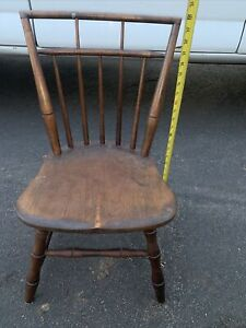 Chair Vintage Childs Chair Antique Rustic Wooden Toddlers Chair Doll Chair