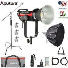 Aputure Ls Cob 300d Ii Led Video Light V-mount+ Light Dome Ii + C Stand & Wheels