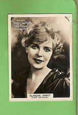 #D303. 1925-1930  FAMOUS FILM  STAR  WILLS CIGARETTE CARD #52  BLANCHE SWEET