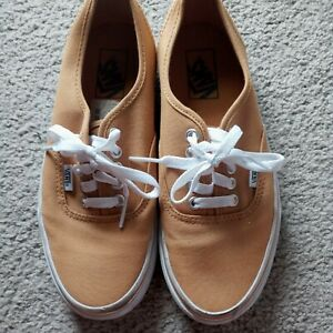 Womens VANS Yellow Tan Tennis Shoes Size 8.5. Great Condition