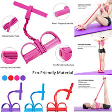 Home Fitness 4-Tube Foot Pedal Pull Rope Resistance Gym Home Equipment Sit-up
