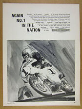 1965 Harley-Davidson Motorcycles racer racing bike art vintage print Ad