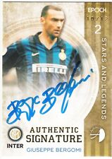 2016/17 Epoch Inter Milan Signatures Blue On-Card Auto Giuseppe Bergomi 10/12