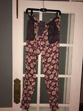 Ladies Rachel Roy Pink Blue Floral Pajamas Size 0