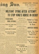 More details for suffragette emily wilding davison dies trampled by kings horse june 4 1913 b23