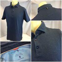 Stone Rose Polo Shirt M Men Blue Cotton Poly Worn Once YGI D9-552