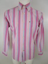 Tommy Hilfiger Hemd Freizeit Shirt Gr.M Rosatöne Gestreift Button Down Langarm