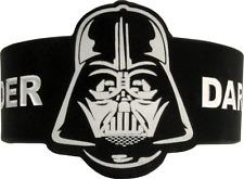 84011 Darth Vader Mask Star Wars Movie Black & White Rubber Wristband Bracelet