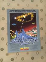 Data East Last Mission Arcade Game Flyer, 1986 NOS