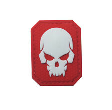 Skeleton ARMY TACTICAL  MORALE BADGE  rubber HOOK PATCH   SH+ 927