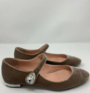Rochas Paris Velvet and Stone Shoes size 37 Made in Italy