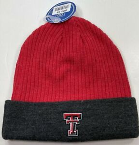 Authentic Texas Tech Knit Hat / Top of The World/ Red/ Gray / NWT/ OSFA