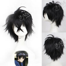 NARUTO Deidara/GINTAMA kijima matako Black Cos Cosplay Wig + Wigs Cap