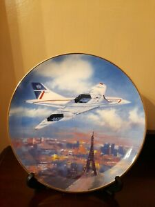 WESTMINSTER COLLECTION CONCORDE 'SUPERSONIC SKYLINE' COLLECTOR PLATE - Paris