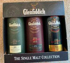 3 Whisky Miniaturen-Glenfiddich  5cl - leer in Originalverpackung