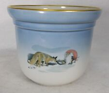 BING & GRONDAHL china FOX & GNOME TOMTE Harald Wiberg pattern Small Cachepot 668