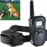 LCD Electric 100LV Levels Shock Vibra Pet Dog Training Remote Control E-Collar
