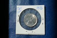 A-206 1973 Canada 25 Cents quarter Queen Elizabeth II RCMP Centennial Mountie