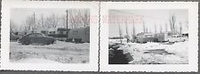 Vintage Photos 1949 1950 Chevy & 1954 Ford Cars w/ Travel Trailers 703738