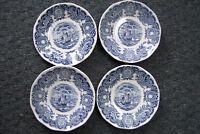 "Historical Ports of England Stoneware Blue & white 5.5"" Saucers Set Of 4"