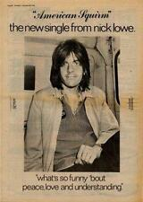 Nick Lowe American Squirm UK '45 advert 1978