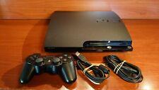 2150 Sony Playstation 3 Slim 160GB Black Console CECH-2504A + acc + Box PS3