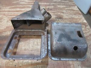 1958 Chevrolet Belair Delray firewall heater housing duct cover assembly