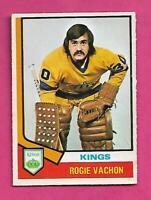 1974-75 OPC # 235 KINGS ROGATIEN VACHON  GOALIE VG  CARD (INV C9220)