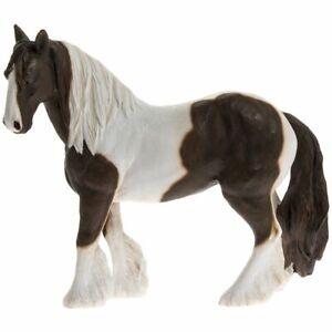 Coloured Gypsy Cob Horse Pony Skewbald Brown & White - Lifelike Ornament Gift