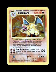 1999 POKEMON CHARIZARD BASE SET HOLO 4/102 - RARE