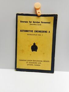 Vintage - AUTOMOTIVE ENGINEERING A - Courses for Service Personnel - Ottawa 1941