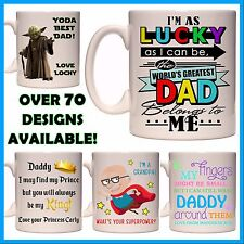 Personalised Father's Day Mug, Custom Gift Idea - Fathers Daddy Dad Grandpa Pop