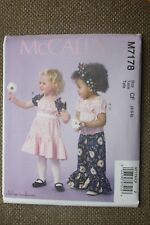 McCall's New Sewing Pattern Toddler Top,  Dress & Pants Size 4-5-6