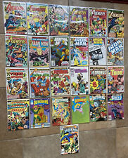 Vintage Marvel Comic Book Lot of 21/4 DC Comics in sleeves Avengers/Iron Man..