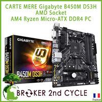 CARTE MERE Gigabyte B450M DS3H AMD Socket AM4 Ryzen Micro-ATX DDR4 PC