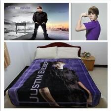 "59""*78"" Justin Bieber Throw Blanket Fleece Blanket Super Star Fans Warm Sheet"