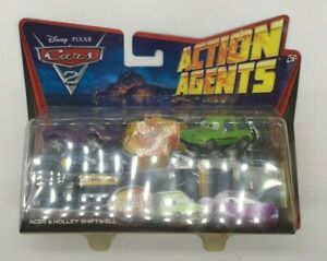 Disney Pixar Cars 2 Action Agents ACER & HOLLEY SHIFTWELL SEALED CARS12