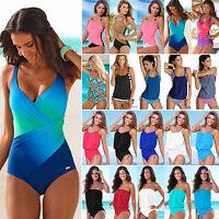 Womens Bandeau Push Up Tankini Monokini Bathing Suit Beachwear Swimwear Swimsuit