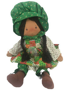 Holiday Holly Hobbie 1988 Collectors Edition Christmas Doll & Ornament Black 18""