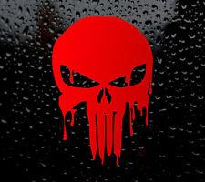 XL BLOODY RED PUNISHER SKULL CAR DECAL VINYL STICKER WINDOW BUMPER LAPTOP