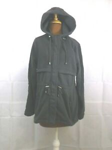Ashley Sunrise Collection Fleece Hooded Coat Gray size Small New
