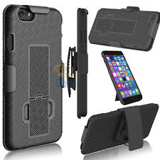 Hybrid Armor Impact Case Cover Belt Clip Holster Stand for Apple iPhone 6S Plus