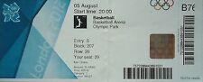Eintrittskarte Olympia 5.8.2012 Women's Basketball Kroatien - Türkei B76