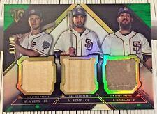 Wil Myers/Matt Kemp/James Shields 2016 Topps Triple Threads GU Bat / Jersey /18