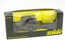 Solido Militar Ejército 1/43 - Jeep Willys + Remolque 256